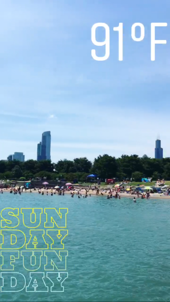 A beautiful day at 12th Street Beach, Chicago.